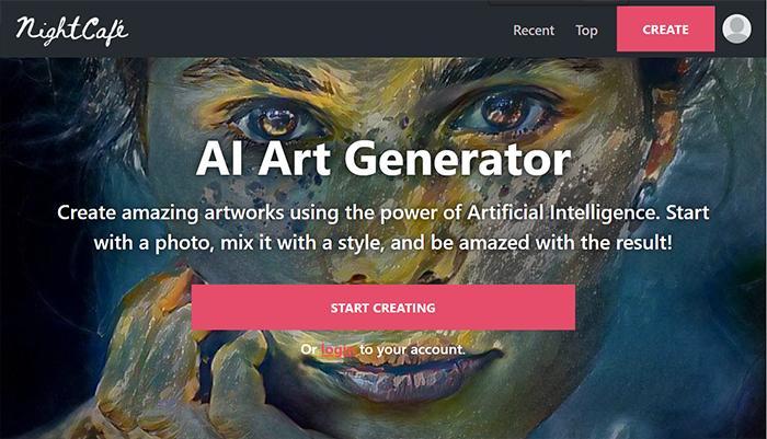 NightCafe AI Painting